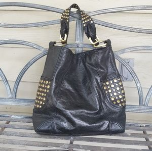 Steve Madden Black  Leather studded  Hobo Purse